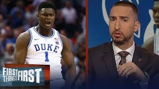 Nick Wright reacts to Zion Williamson's return   CBB   FIRST THINGS FIRST