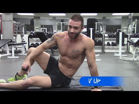 V Ups Exercise For V Shaped Abs | GymPaws® Gym Gloves Blog