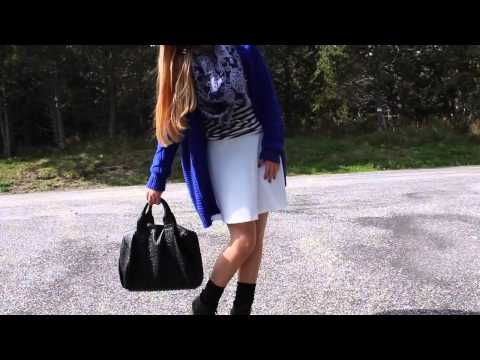 Alexa Studded Calfskin Leather Bag Black