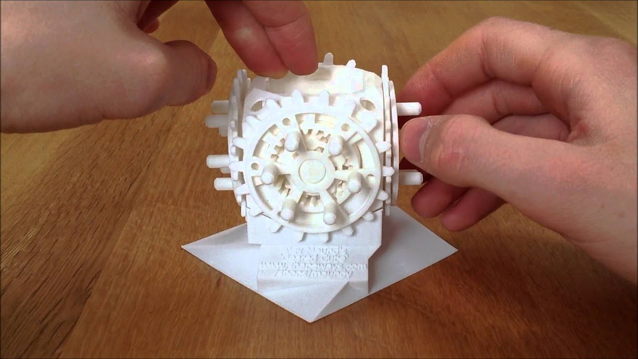 3d Printed 28 Geared Cube Printed Fully Assembled