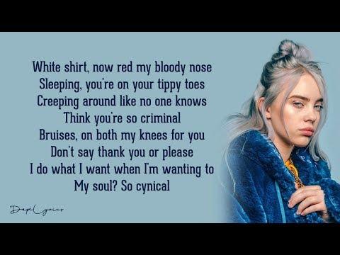 bad guy - Billie Eilish (Lyrics) 🎵