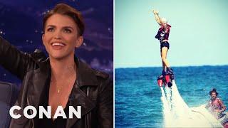 Ruby Rose's Water Jetboard Wild Ride  - CONAN on TBS