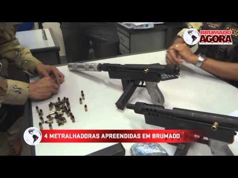 Apreensão de 04 metralhadoras em Brumado