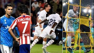 CHAMPIONS LEAGUE GAME-WEEK 1 REVIEW - ft PSG vs Real, Atleti vs Juve, BVB vs Barça