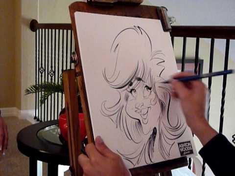 Mac Garcia Drawing A Women S Caricature Live At Houston Tx