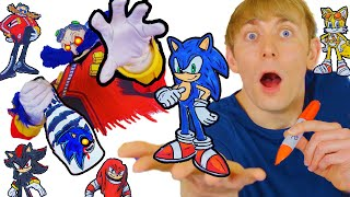 Sonic DIYs You Should NOT TRY- Robotnik, Tails, Knuckles, Shadow, Sonic.EXE - DIY Drawings & Crafts