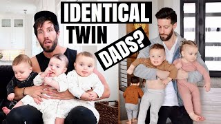 Triplet Babies Confuse Dad For His Identical Twin Brother