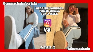 I copied youtubers outfits for a week to school...*challenge* 2019