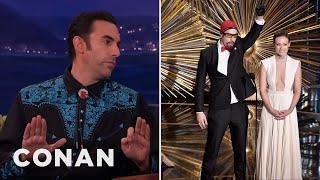 How Sacha Baron Cohen Snuck Ali G Into The Oscars - CONAN on TBS