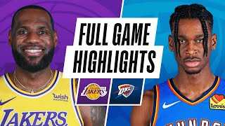 LAKERS at THUNDER | FULL GAME HIGHLIGHTS | January 13, 2021