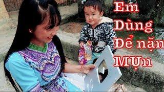 DTVN - Em Mỷ mở nút Play Bạc của kênh DTVN (DÂN TỘC VIỆT NAM)
