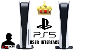 PS5 User Interface is Beautifully Designed. Instant, Customizable, Elegance & Simplicity!