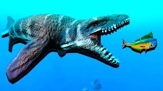 MOSASAURUS ATTACKS and CREATURES of the DEEP! - Feed and Grow Fish Gameplay