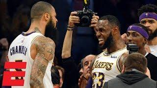 LeBron's go-ahead dunk, Tyson Chandler block seal Lakers win vs. Hawks   NBA Highlights