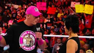 John Cena comes face to face with Vickie Guerrero: Raw, Oct. 29, 2012