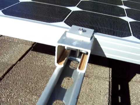 Solar Panels Mounting Brackets Youtube