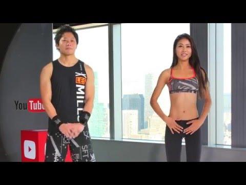 脇腹引き締め1分間トレーニングをmusclewatching高稲さんと! 【美コア-山口絵里加】Bicore Beauty Workout #138