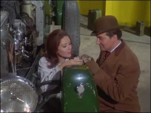 Youtube video - Steed's mechanic tells him he has a ghost in the engine - then ends up beinbg revealed as Mrs Peel and they share a glass of champagne