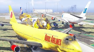 Giant Planes Collided On The Runway   GTA 5