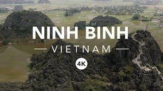 NINH BINH PROVINCE, VIETNAM - 4K DRONE VIDEO FLYCAM