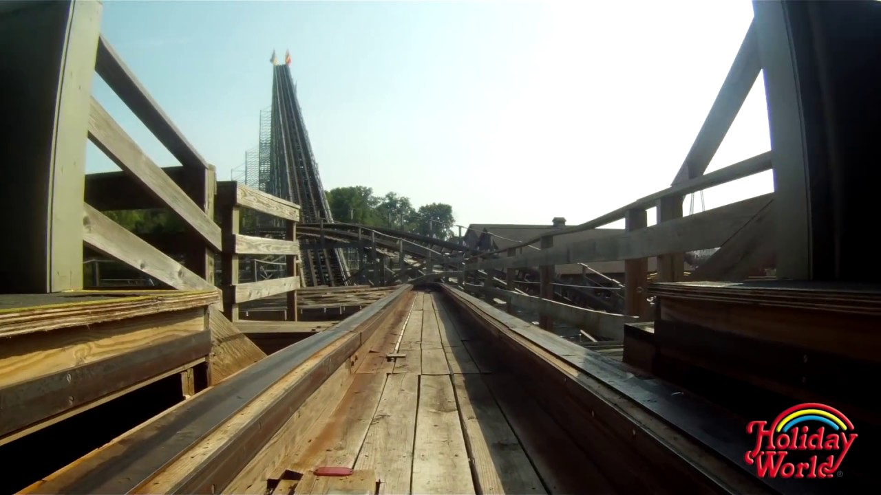 Holiday World's Voyage wooden roller coaster POV in HD ...