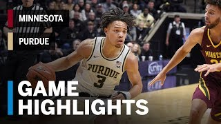 Highlights: Minnesota at Purdue | Big Ten Basketball