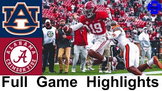 #1 Alabama vs #22 Auburn Highlights | 2020 Iron Bowl | 2020 College Football Highlights
