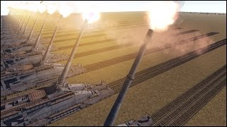 20 800MM GUSTAV RAILWAY GUNS vs U.S. ARMY - Men of War Assault Squad 2 - Editor Scenario #67