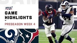 Rams vs. Texans Preseason Week 4 Highlights | NFL 2019