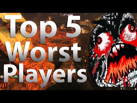 'TOP 5' Worst Zombies Players in 'Call of Duty Zombies' -