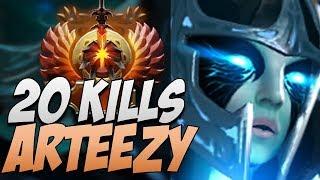EG.Arteezy Phantom Assassin with 20 KILLS in 7.20   Dota Gameplay
