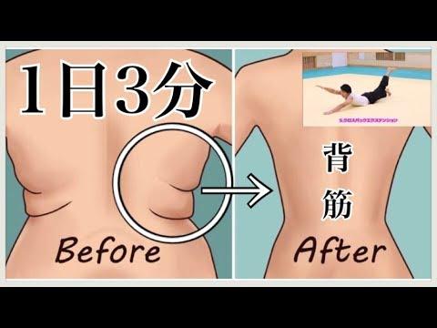 【3分で背中の脂肪を落とし鍛える‼】くびれ・逆三角形の体は背筋の筋トレで作れます‼