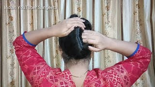 Different and simple way to make french knot ll french bun    Juda Hairstyle    Hairstyle