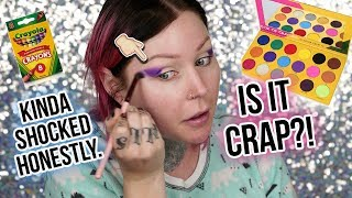 OK WOW...WTF. BOX OF CRAYONS EYESHADOW PALETTE Review | KristenLeanneStyle