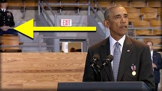 WHOA! AS OBAMA GAVE HIS SPEECH TODAY, EVERYONE NOTICED NASTY THING BEHIND HIM!