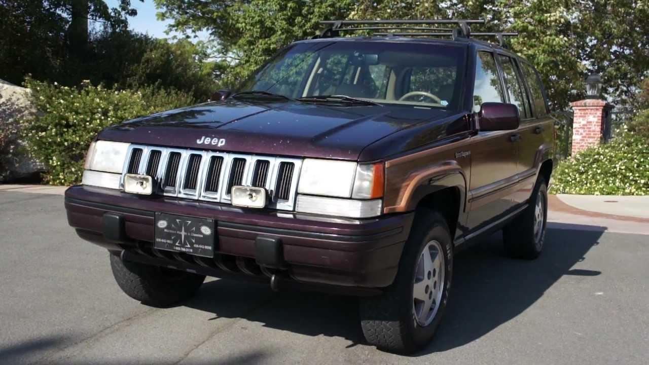 Jeep Grand Wagoneer For Sale >> Jeep grand Wagoneer woodie woody 1993 Cheroke 4x4 AWD limited - YouTube