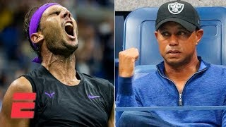 Rafael Nadal gets Tiger Woods fired up with stellar win vs. Marin Cilic | 2019 US Open Highlights