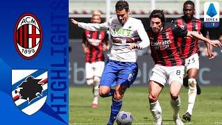 Milan 1-1 Sampdoria | Late Hauge Strike Sees Milan Come From Behind To Claim Draw! | Serie A TIM