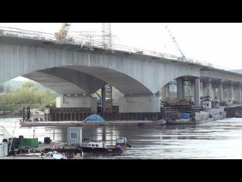 Budowa mostu na A1 na Wiśle koło Grudziądza