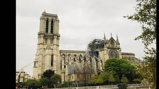 Notre Dame Cathedral in Paris the day after fire