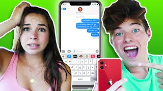 TEXTING BRENT RIVERA OFF PIERSON'S PHONE!!