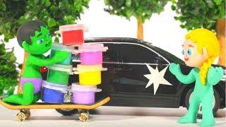 SUPERHERO BABIES FIX THE CAR ❤ Superhero Babies Play Doh Cartoons For Kids
