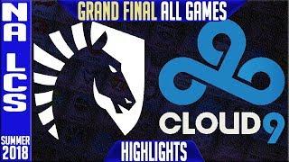 TL vs C9 Highlights ALL GAMES | NA LCS Playoffs Final Summer 2018 | Team Liquid vs Cloud9
