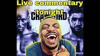 Terence Crawford vs Amir Khan - Live Commentary ONLY!!!