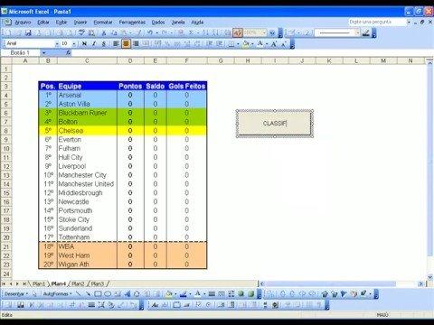 Excel apostas futebol