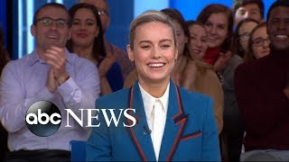 Brie Larson reveals behind-the-scenes scoop from 'Captain Marvel' | GMA
