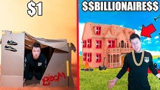 $1 BOX FORT Vs BILLIONAIRE BOX FORT CHALLENGE!! 📦💰