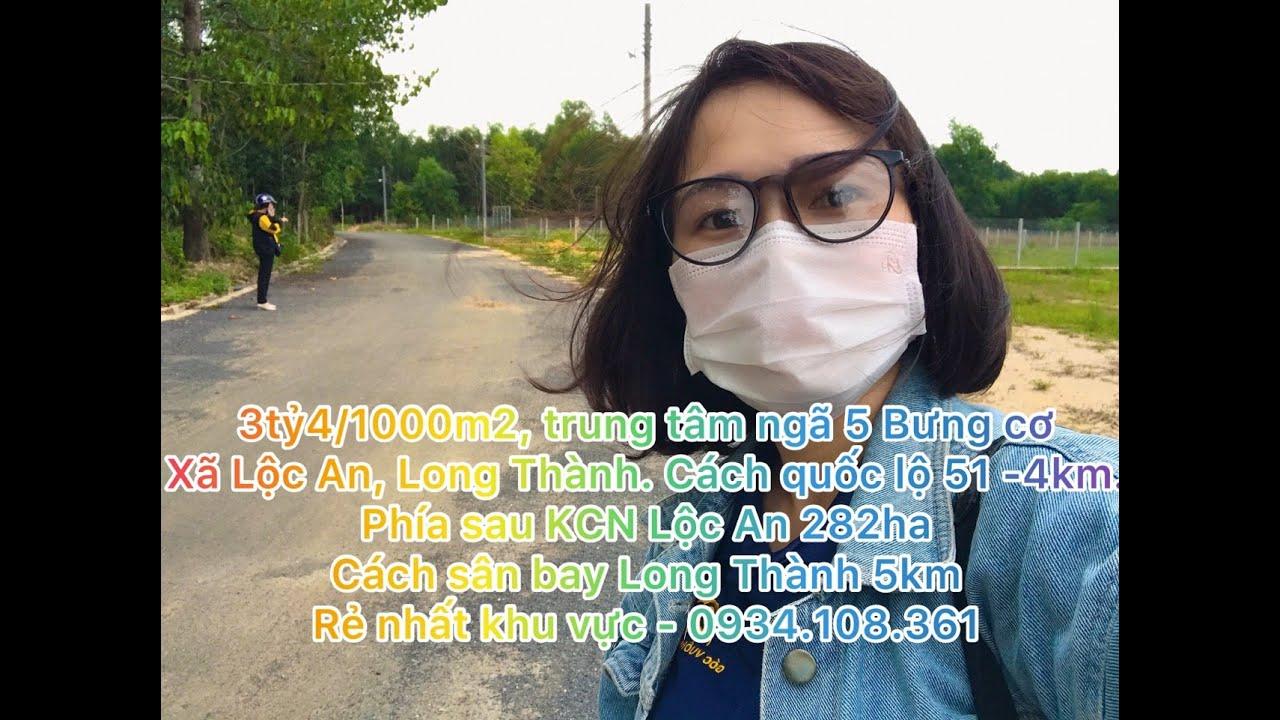 Chính chủ bán lô đất 4000m2 ấp Bưng Cơ, Lộc An, 2km khu TDC sân bay Lộc An, Bình Sơn, 3tr5/m2 video