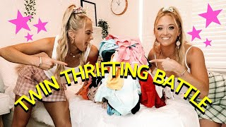 Thrifting Challenge ~ TWIN VS TWIN!