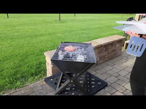 video Portable Notebook Charcoal Grill